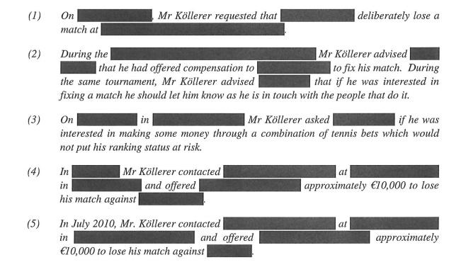 Charges v Kollerer