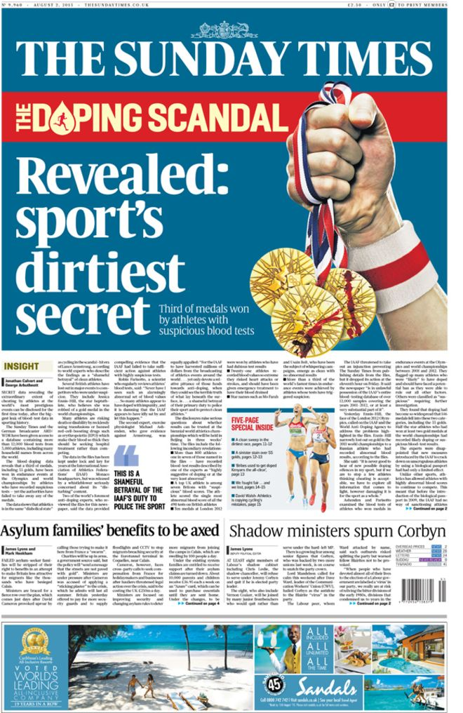 ST doping front page